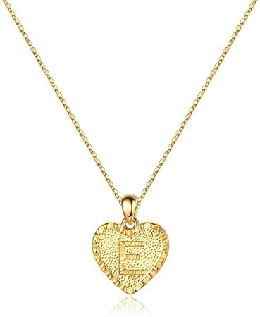 Amazon.com: IEFSHINY C Initial Necklace Women - 14K Gold Filled Initial Necklaces Dainty Heart Pendant Alphabets Monograms Script Necklaces Birthday Romantic Idea for Girlfriend Lover Wife: Jewelry