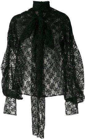 bow lace blouse