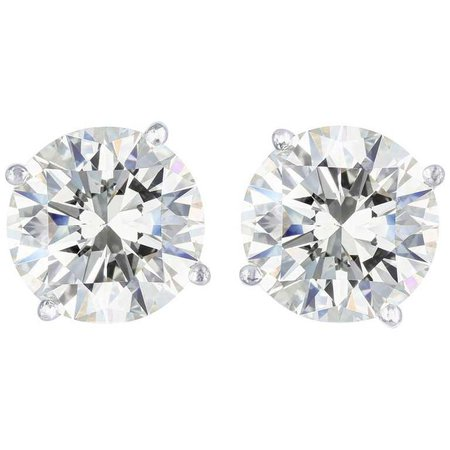 GIA Certified 10.04 Carat H/SI2 Diamond Stud Earrings | $275,000