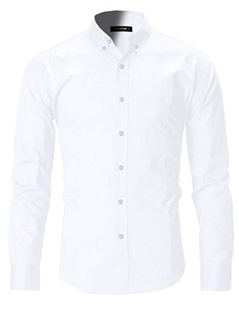 FLATSEVEN Men's Slim Fit Casual Oxford Button Down Shirt at Amazon Men's Clothing store: