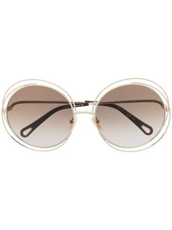 Chloé Eyewear round-frame sunglasses - FARFETCH