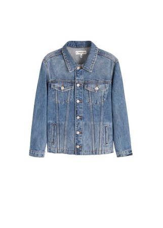 MANGO Medium wash denim jacket