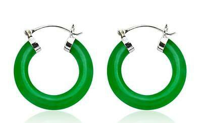 Green Jade Hoop Earrings | Compare Prices on dealsan.com