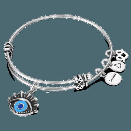 Evil Eye Charm Bangle - Gifts