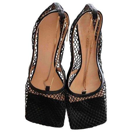 Stretch cloth heels Bottega Veneta Black size 40 EU in Cloth - 9996207