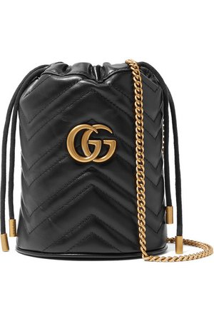 Gucci | GG Marmont mini quilted leather bucket bag | NET-A-PORTER.COM