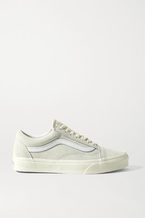 Old Skool Leather-trimmed Suede Sneakers - Off-white