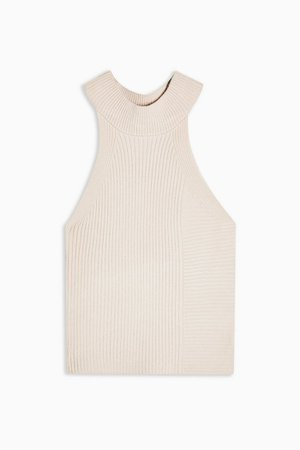 Stone Racer Ribbed Knitted Tank | Topshop ivory