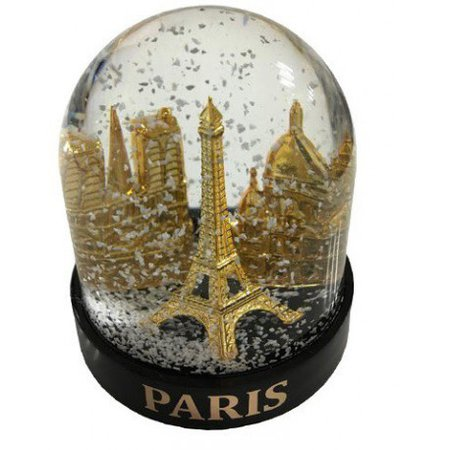 Big snowball Paris with monuments - Souvenirs of Paris, PAR'ICI