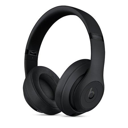 Beats Studio3 Wireless Over-Ear Headphones - Matte Black - Apple