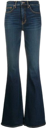 Flared High-Rise Jeans