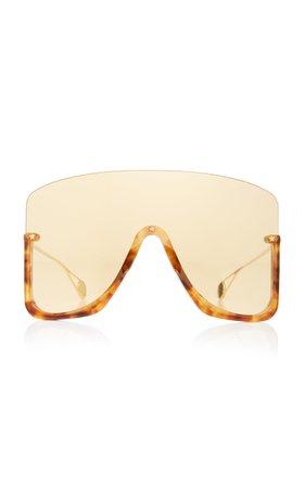 Oversized Acetate Shield Sunglasses by Gucci Sunglasses   Moda Operandi