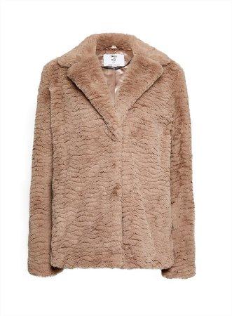 **DP Tall Brown Faux Fur Coat