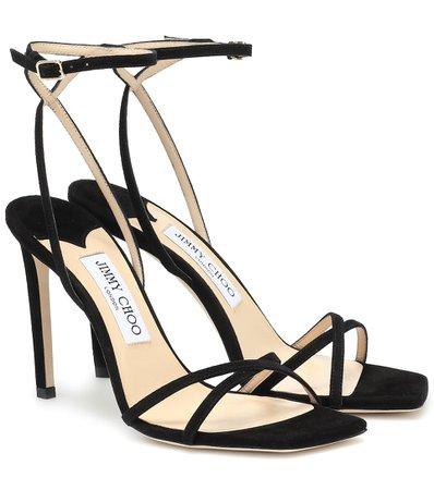 Jimmy Choo, Metz 100 suede sandals