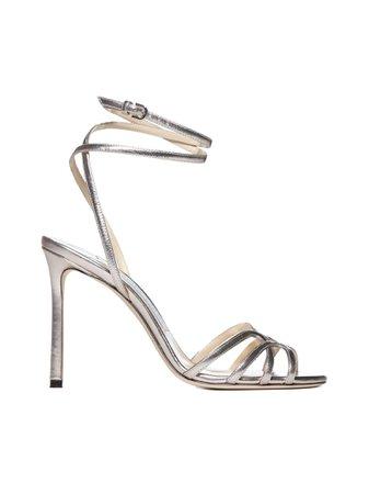 Mimi 100 sandals SILVER, JIMMY CHOO  Danielloboutique.it