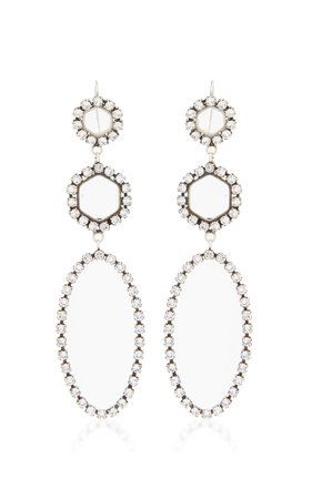 Silver-Tone Swarovski Crystal Earrings by Isabel Marant | Moda Operandi