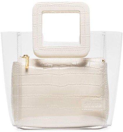 Staud white Mini Shirley Bag