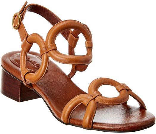 Ankle Strap Patent Heel Sandal
