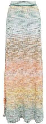 Metallic Crochet-knit Maxi Skirt