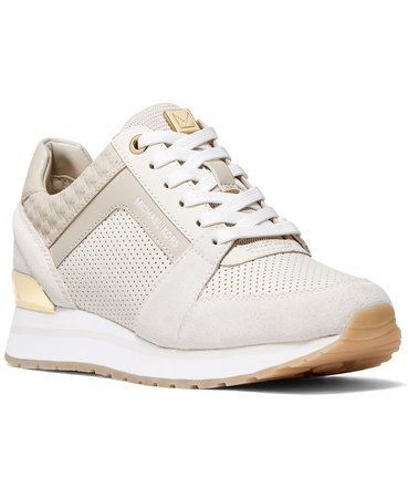 Cream Michael Kors Billie Trainer Sneakers & Reviews - Athletic Shoes & Sneakers - Shoes - Macy's