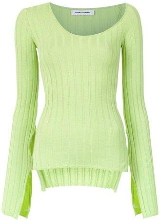 Gloria Coelho asymmetric knit blouse