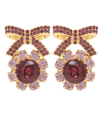 Erdem, Crystal-embellished earrings