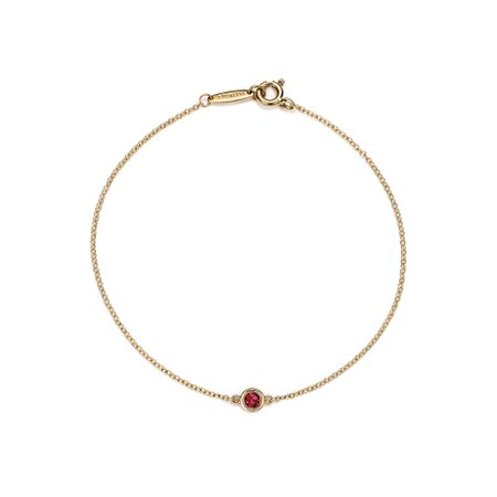 Elsa Peretti® Color by the Yard bracelet in 18k gold with a ruby. | Tiffany & Co.