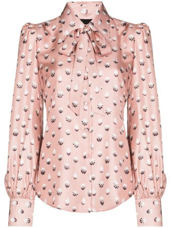 The Marc Jacobs pussy-bow Silk Blouse - Farfetch