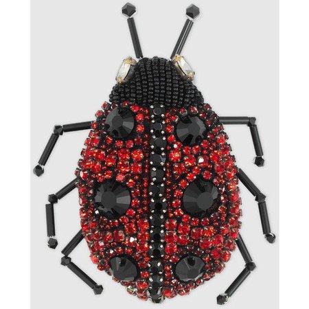 Gucci Ladybug Brooch With Crystals ($520)