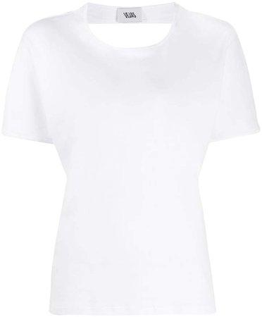 open-back cotton T-shirt