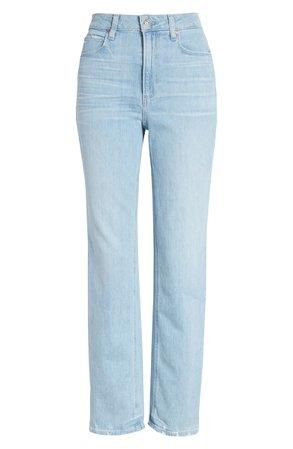 PAIGE Noella High Waist Straight Leg Jeans (Duet) | Nordstrom
