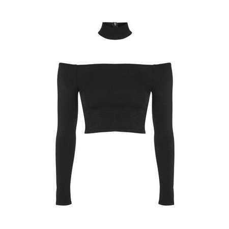 choker crop top black