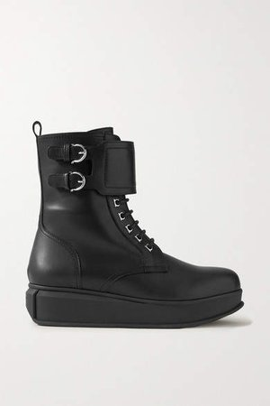 Karin Leather Ankle Boots - Black