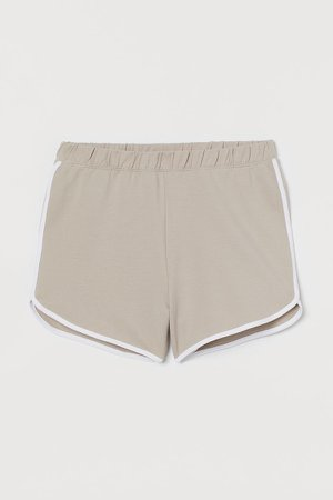 Sweatshorts High Waist - Brown