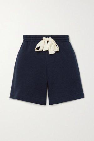 Cotton-terry Shorts - Midnight blue