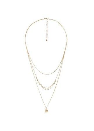 MANGO Chain waterfall necklace