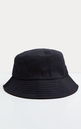 Plain Black Bucket Hat   Accessories   PrettyLittleThing