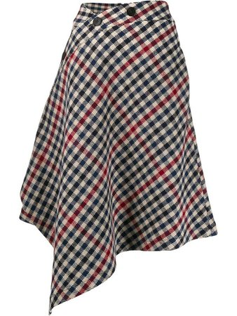 J.w. Anderson Asymmetric Houndstooth Skirt | The Webster