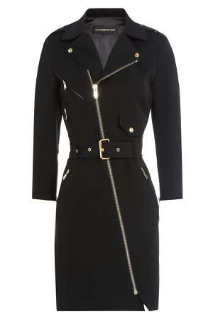 Biker-Style Dress Gr. FR 42