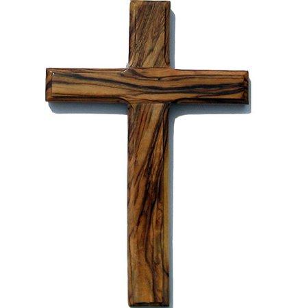 6 inch Olive Wood Cross   Wooden Cross