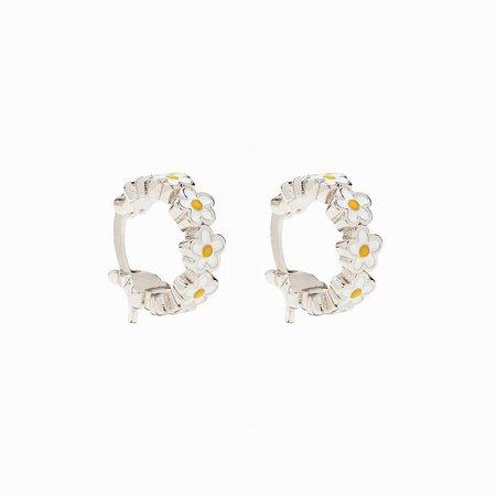 Painted Blooms Hoop Earrings | Pura Vida Bracelets