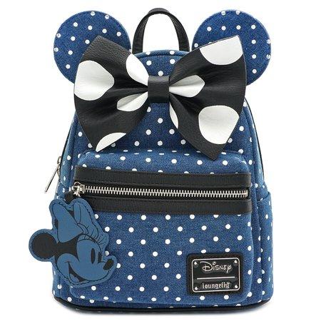 LOUNGEFLY X DISNEY MINNIE MOUSE DENIM MINI BACKPACK - Backpacks - Bags