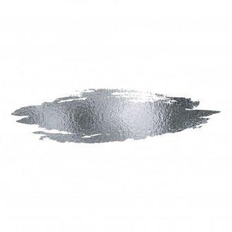 Silver foil brush stroke. Vector | Premium Download