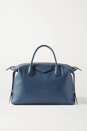 Navy Antigona Soft medium leather tote | Givenchy | NET-A-PORTER