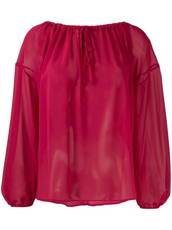 Semicouture Long-Sleeve Flared Blouse