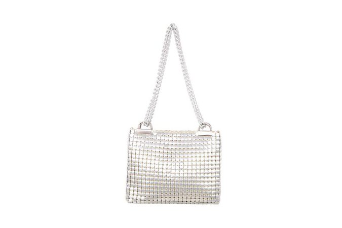Vintage Silver CHAIN METAL Square Shoulder BAG | Etsy