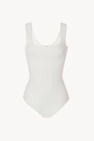 Elian Bodysuit In Viscose in White for Women | The Row.com