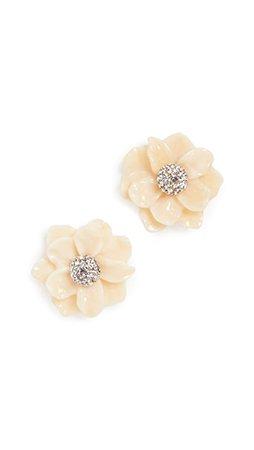 Lele Sadoughi Gardenia Stud Earrings | SHOPBOP