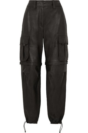 Alexander Wang | Convertible leather cargo pants | NET-A-PORTER.COM