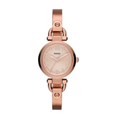 Fossil - Fossil Women's Georgia Rose Gold Tone Stainless Steel Watch (Style: ES3268) - Walmart.com